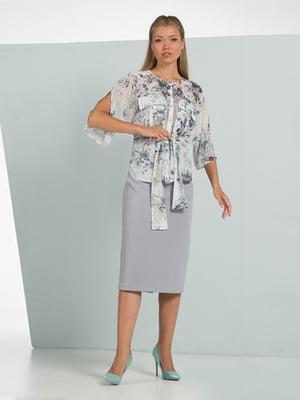 Блуза в цветочный принт | 5114057