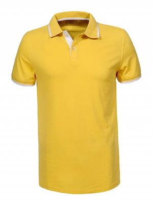 Футболка-поло желтая | 5113944