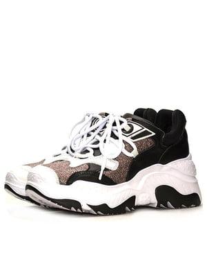 Кроссовки бело-коричневые | 5114755