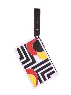 Клатч белый с аппликациями - Alba Soboni - 5114973