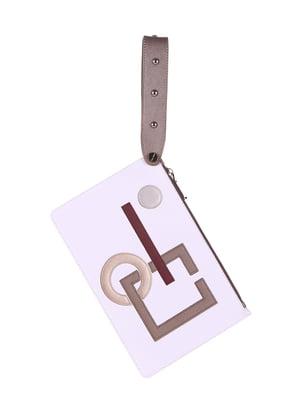 Клатч белый с аппликациями - Alba Soboni - 5114974