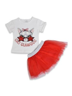 Комплект: футболка і спідниця | 5115223