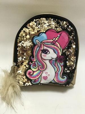Рюкзак золотистий з декором | 5115292