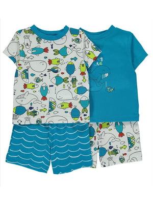 Набор пижам (2 шт.): футболка и шорты   5115646