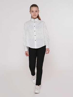 Рубашка белая в точку | 5116796
