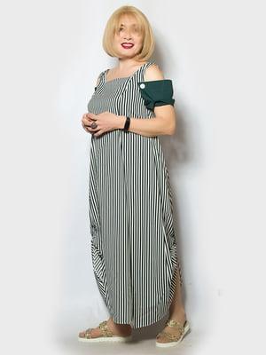 Платье зеленое в полоску   5116810