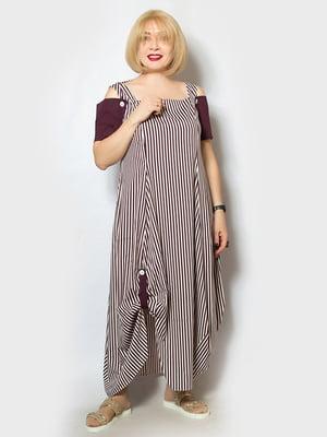 Платье фиолетовое в полоску   5116811