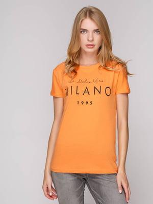 Футболка оранжевая   5114526
