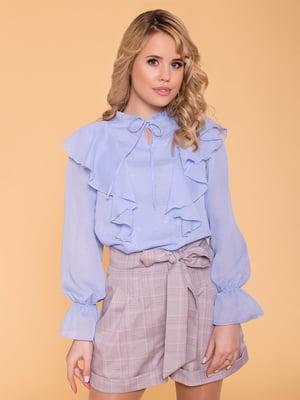 Блуза голубая   4977614