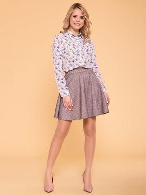 Рубашка розовая в цветочный принт | 5039183