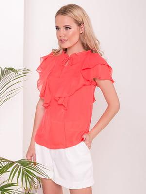 Блуза коралового кольору | 5112275