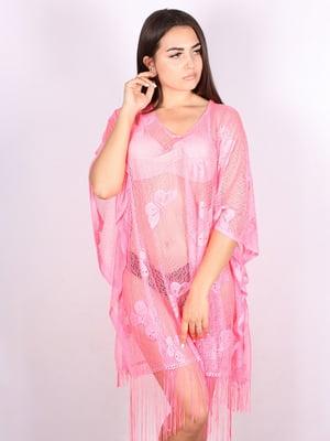 Туника пляжная розовая | 5117657
