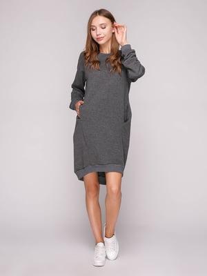 Платье темно-серое   5116719