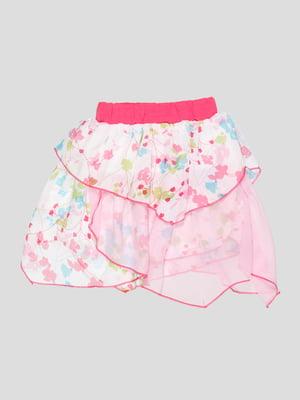Юбка розовая в цветочный принт | 3420585