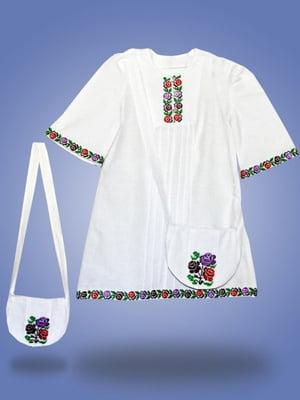Блуза біла з вишивкою | 3213726