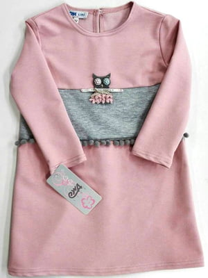 Сукня сіро-рожева | 4246419
