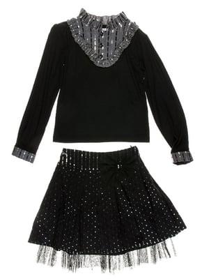 Блуза чорно-сіра   4398846