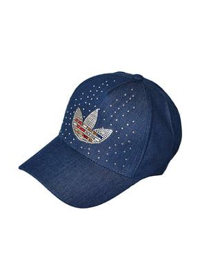 Бейсболка синя з декором   5089535