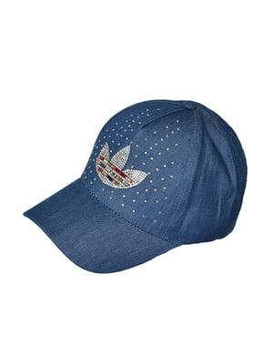 Бейсболка синя з декором   5089536