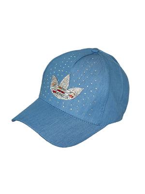 Бейсболка світло-синя з декором   5089537