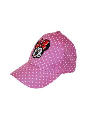 Бейсболка рожева в горох з вишивкою   5124329