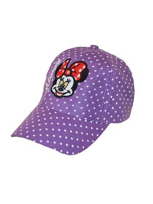 Бейсболка фіолетова в горох з вишивкою   5124331