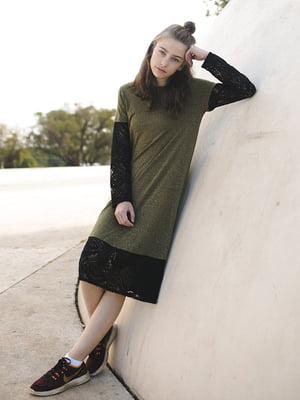 Платье цвета хаки | 5124705
