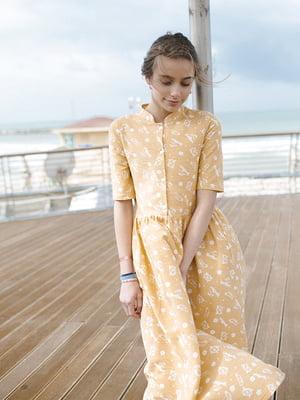 Платье желтое в принт | 5124706