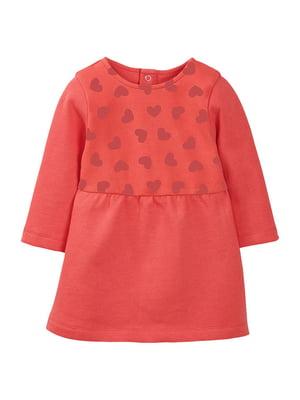 Платье коралловое на флисе | 5125327