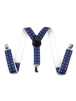 Підтяжки сині з принтом | 5054598