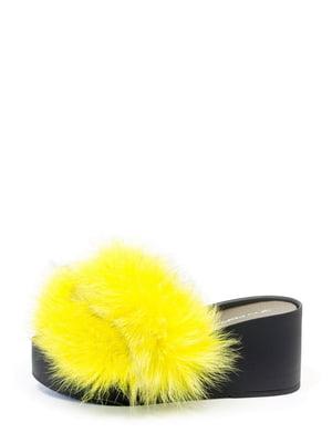 Шльопанці чорно-жовті | 5126030