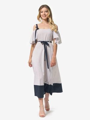Платье бело-синее | 5126148