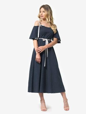 Платье синее в горох | 5126155