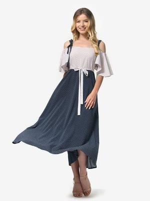 Платье бело-синее | 5126156