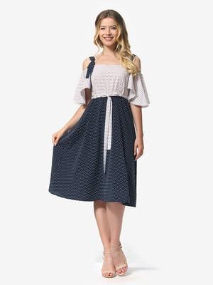 Платье бело-синее | 5126157