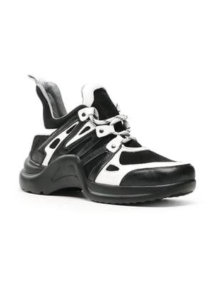 Кросівки чорно-білі | 4730690
