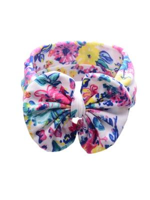 Повязка на голову в цветочный принт | 4538412