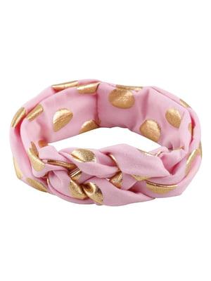 Повязка на голову розовая | 5127394