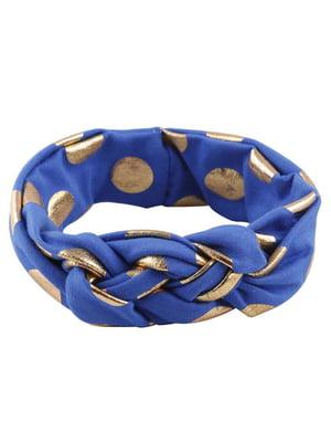 Пов'язка на голову синя | 5127397