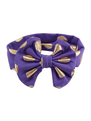 Повязка на голову фиолетовая | 5127408