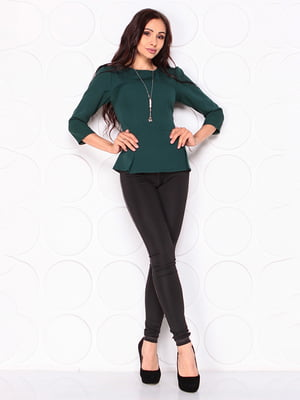 Блуза тёмно-изумрудного цвета   5123265