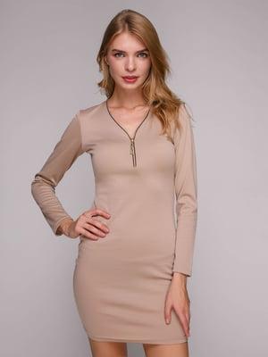Платье бежевое | 5128099