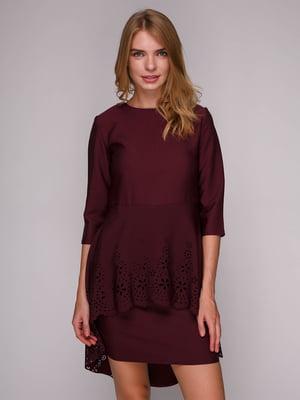 Платье бордовое | 5128097