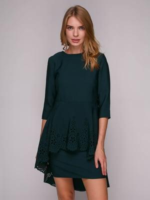 Платье темно-зеленое | 5128094