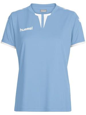 Футболка голубая с логотипом | 5111769