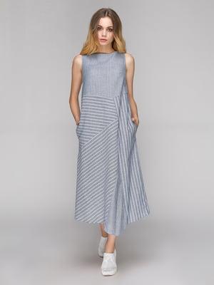 Платье серое в полоску | 5128868