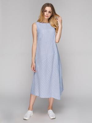 Сукня блакитна в смужку | 5128869