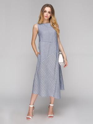 Платье серое в полоску | 5128876