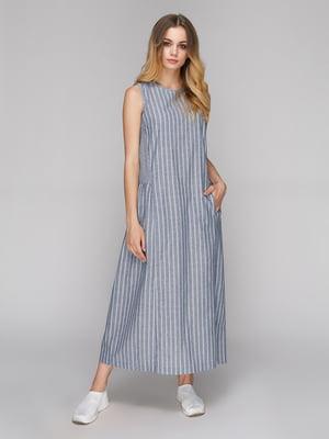 Сукня сіра в смужку | 5128880