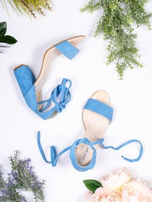 Босоножки голубые | 5098814